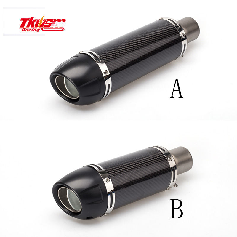 Universal 36-51mm dirt bike exhaust Motorcycle escape Modified Scooter carbon Exhaust Muffle for honda yamaha benelli suzuki