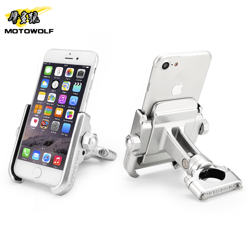 MOTOWOLF motorcycle modified phone holder AL top quality very cool styling NOT THE cheap thing цена 2017