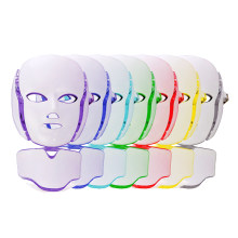 Facial Machine 7 Colors LED Facial Neck Mask Micro-current Led Mask Remove Wrinkle Acne Skin Rejuvenation Face Beauty Spa Care(China)