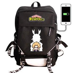 Image 3 - بلدي بطل الأكاديمية محمول USB شحن ظهره Boku لا بطل الأكاديمية كوس حقيبة مدرسية حقيبة ظهر حقيبة للسفر مقاوم للماء
