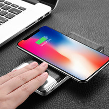 10000 mAh Power Bank Externe batterij Draadloze Dual USB Draadloze Oplader Battery Charger Case Externe Draagbare Voor iphoneX 8 plus(China)
