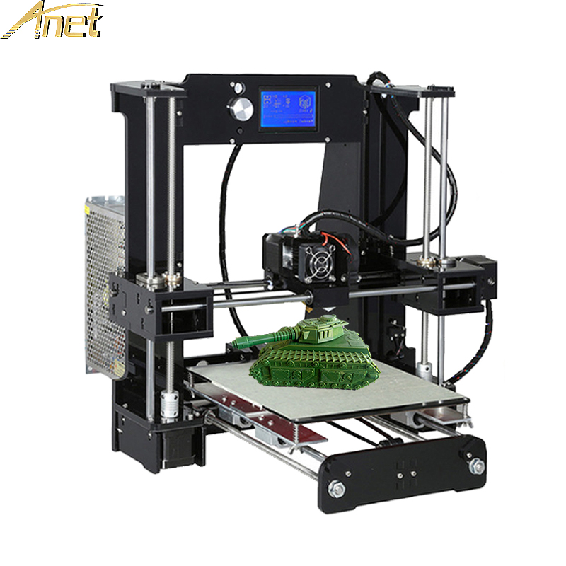 2017 High Quality Anet A6 A8 Normal&Auto Level A8 3D Printer Easy Assemble Reprap i3 3D printer Kit DIY With Free Filament anet a6 3d printer prusa i3 reprap easy assemble 3d printer filament kit diy sd card high quality cd screen moscow warehouse