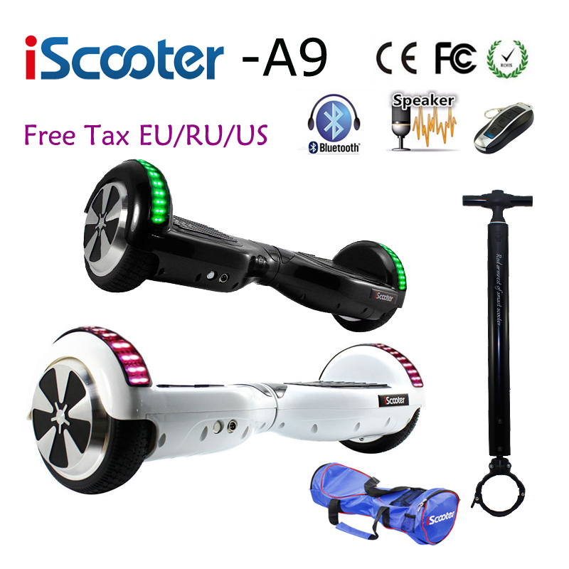 Hot iScooter Bluetooth 6.5 inch Hoverboard 2 Smart steering-wheel Electric Skateboard Self Balancing Scooter Balance Hover board hot sale 4 5 inch electric self balancing scooter hoverboard smart wheels smart scooters balancing board for kid n5 1