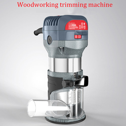 600W Woodworking Electric Hand Trimmer Variable-Speed Router Kit 1/4''&3/8'' Routing Engraving Drilling Tools 10000~32000rpm