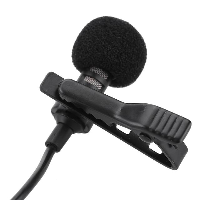 Clip-on Lavalier mikrofon 3,5 mm jack mini przewodowy mikrofon pojemnościowy MIC Yaka mikrofonu dla smartfonów laptop mikro cravate