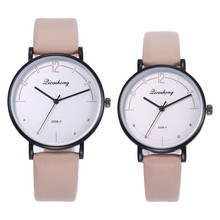 Lover Watches Gifts 2PCS Couples Fashion Leather Band Analog