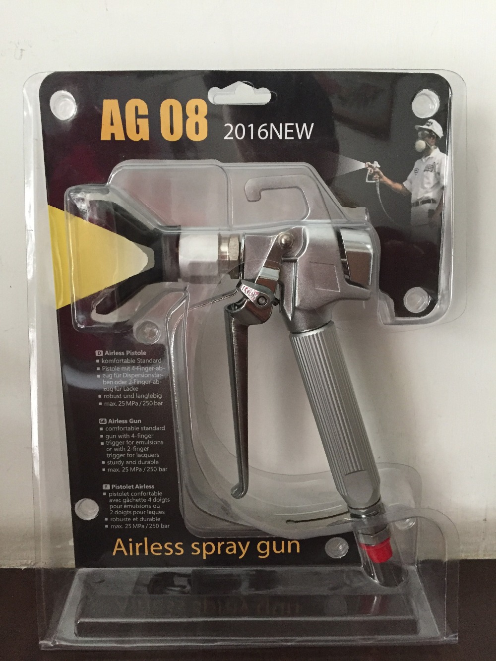 Aftermarket professional high quality electric spray gun AG08 sprayer gun with tip517 wager AG08 brand high quality electric eraser with extra refills