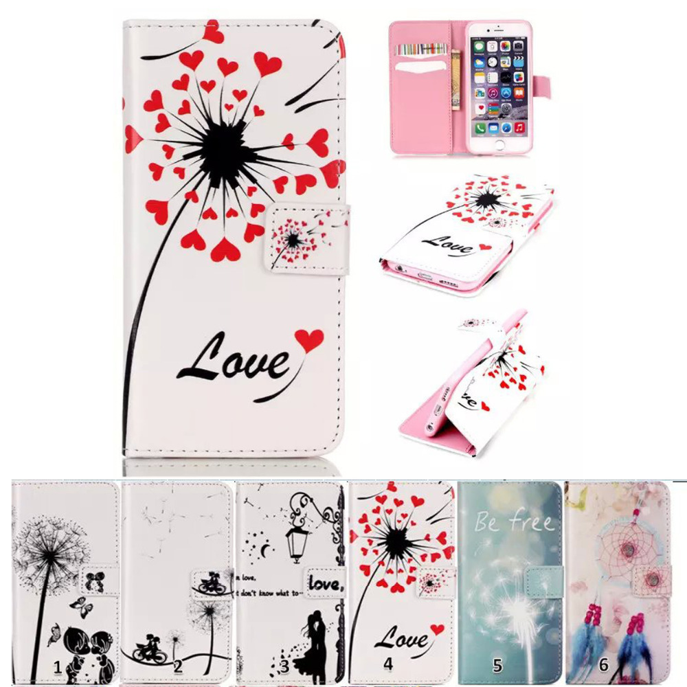 Leather Cases For iPhone 6 & 6s 4.7 inch Coque Mobile Accessories Fundas Flip Stand Wallet Magnetic Car casa Soft Book Stand