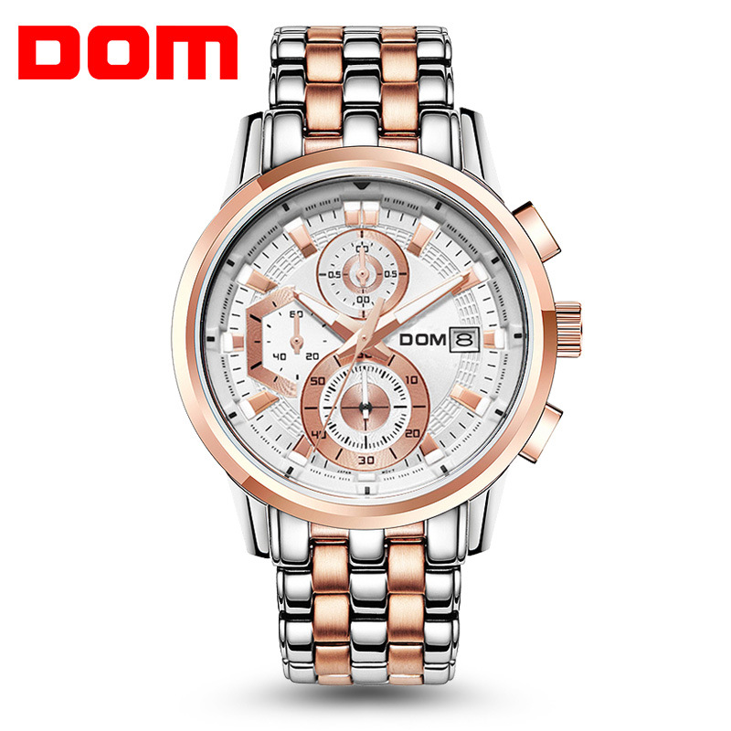 Original DOM sports watch Military outdoor Men Watches 2017 Fashion Brand army style chronograph wrist watches Relogio Masculino