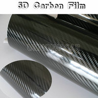 High Glossy Black 5D Carbon Fiber Vinyl 5D Carbon Fibre Wrap 5D Carbon Fiber Film Air