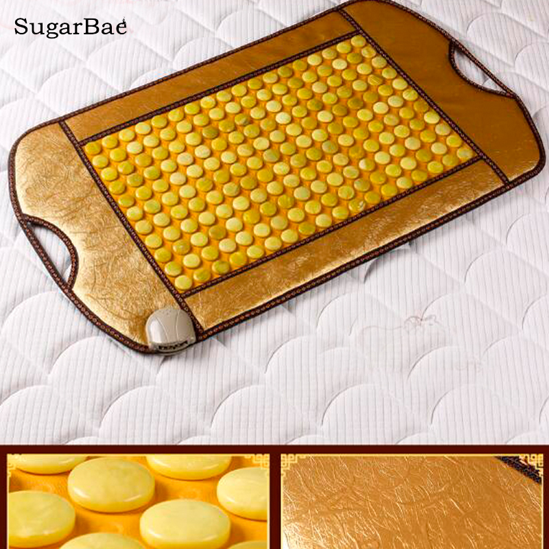 Electric Natural Jade Mat Heating Massage Mattress For Body Relax& Pain Relief body slimming relax massage new dance pad non slip dancing step dance game mat pad for pc blanket relax tone leisure recreation