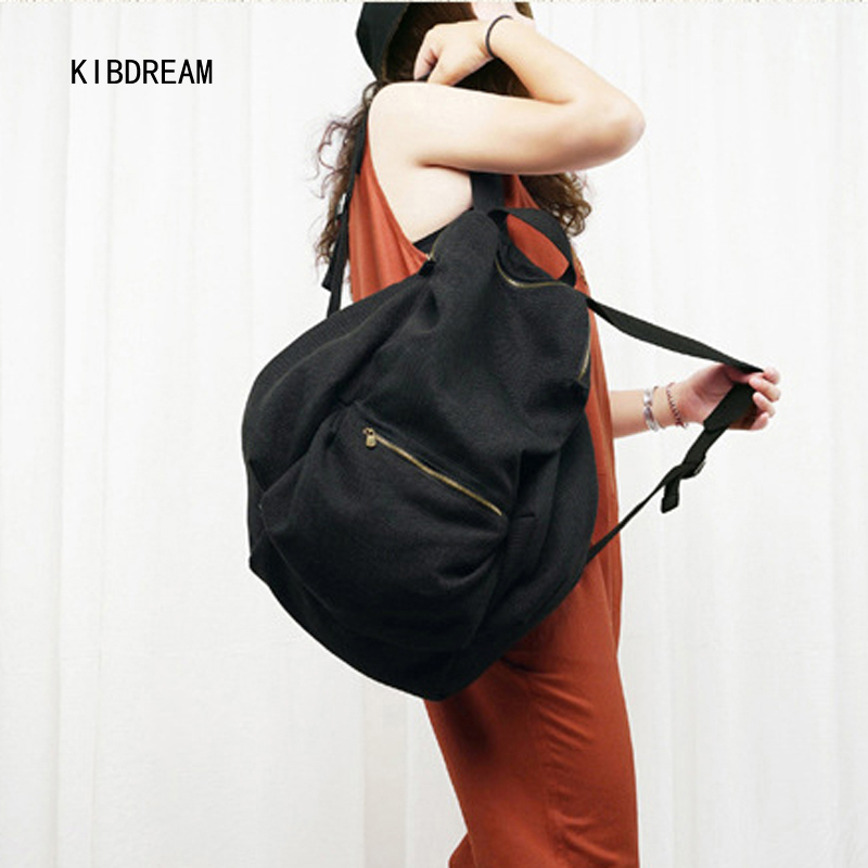 KIBDREAM In The Autumn Of 2017 New Cotton Color Ultra Light All-Match Bulk Solid Art Leisure Travel Backpack Free Shipping