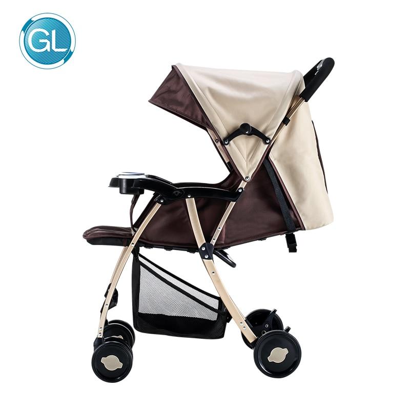 2017 детская коляска зонтик автомобиль коляски легкие коляски Высокая Landscope складная детская коляска Kinderwagen для ребенка 0-5 лет