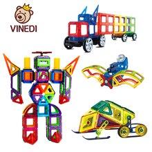 VINEDI большой размер магнитные блоки Магнитный конструктор Набор конструкторов модель и строительные игрушки магниты Развивающие игрушки для детей