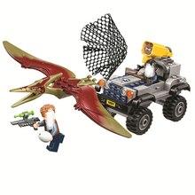 2018 Nuevo Mundo Jurasico 2 Pteranodon Chase bloques de construccion ladrillos juguetes Compatible Legoings Parque dino