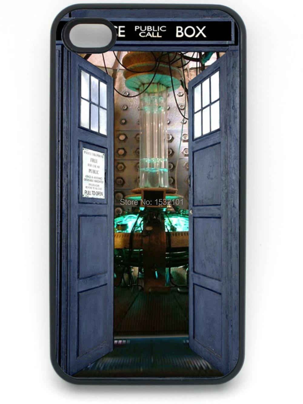 Doctor Who Tardis Box Cover Case for iPhone 4 4S 5 5S 5C 6 6S 7 8 Plus Samsung Galaxy S3 S4 S5 Mini S6 S7 S8 Edge Plus A3 A5 A7