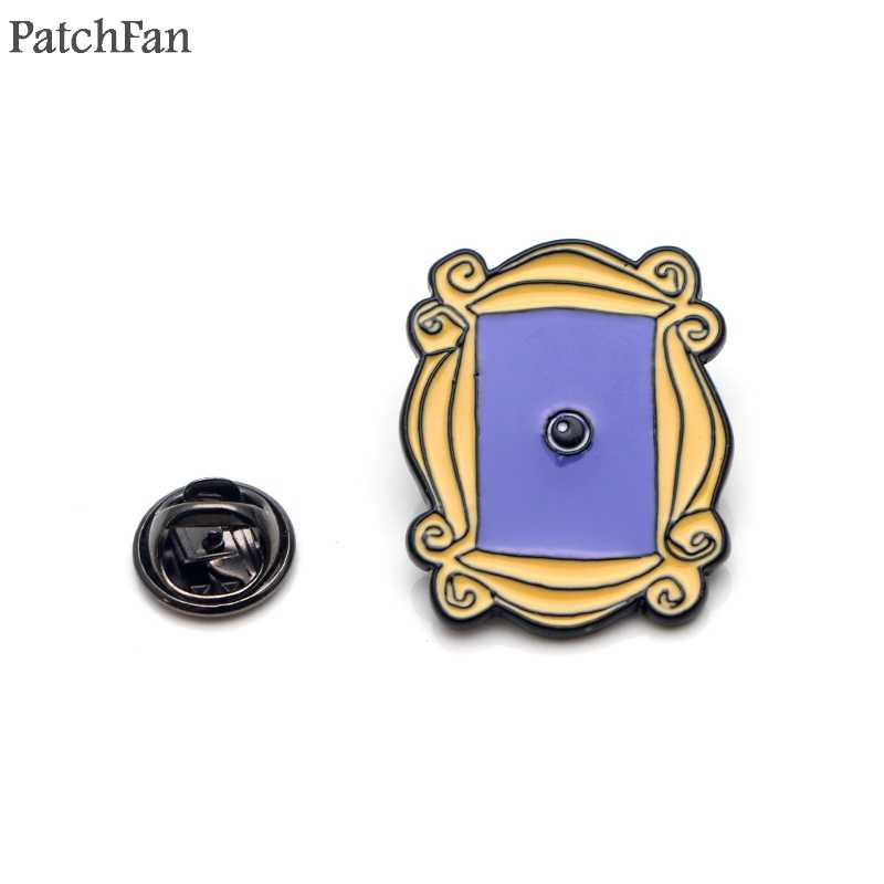 Patchfan Friends TV Show photo frame Enamel Pins clothes metal Gift para bag hat backpack insignia Brooches Badges for men A1584