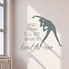 Fitness Studio Decor Gym Vinyl Sticker Sport Club Logo Wall Decal Gymnastics Exercises Art Poster Home Decoration AY1785