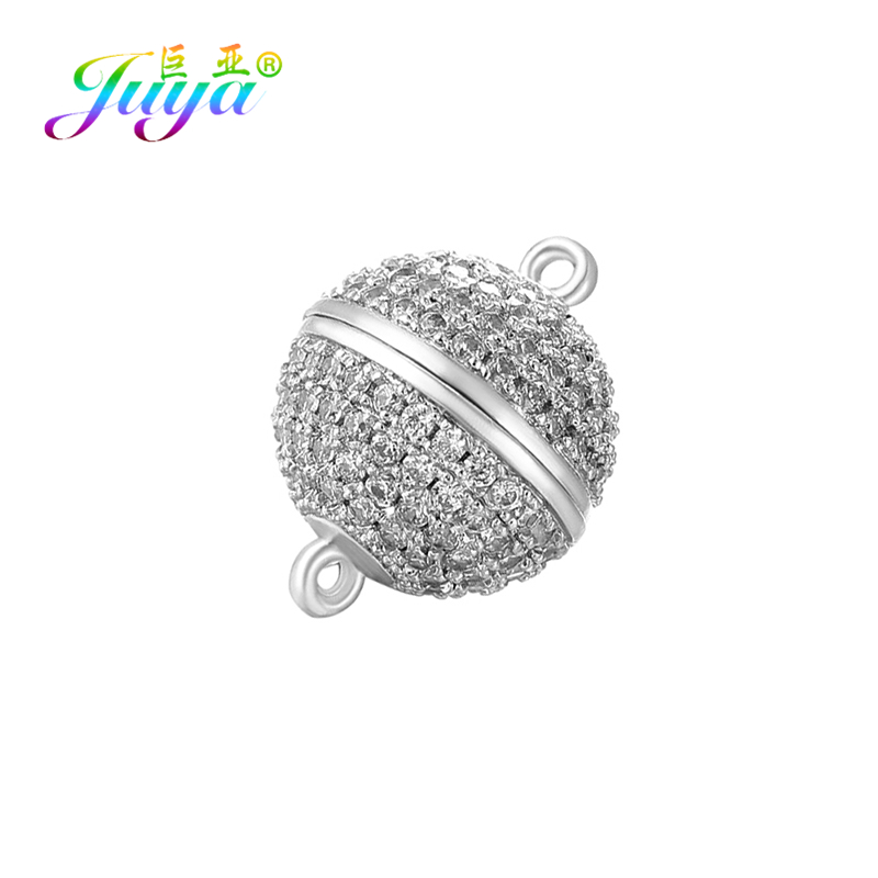 Juya Hand made Beads Jewelry Findings 4 Size Strong Magnetic Clasps & Hooks For Women Crystals Pearls Bracelets Necklaces Making