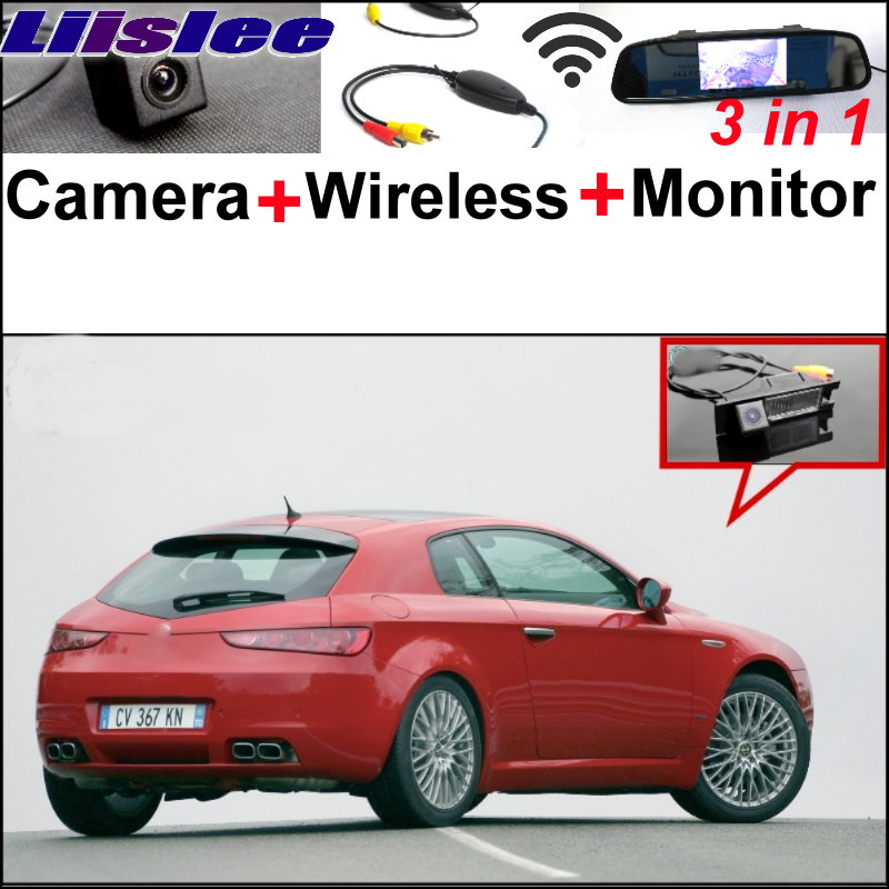 все цены на  Liislee For Alfa Romeo Brera  Spider Wireless Receiver + Mirror Monitor EASY Parking System 3 in1 Special WiFi Rear View Camera  онлайн