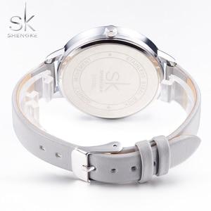 Image 5 - Shengke Watches Women Fashion Watch 2020 New Elegant Dress Leather Strap Ultra Slim Wrist Watch Montre Femme Reloj Mujer