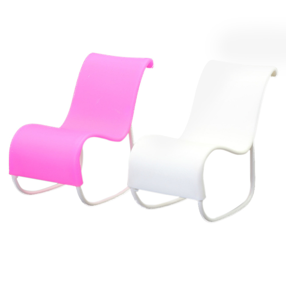 Satkago 2 PCS Doll Beach Lounge Rocking Chair Living Room Furniture Accessories for Barbie Dolls Toys Princess Dreamhouse