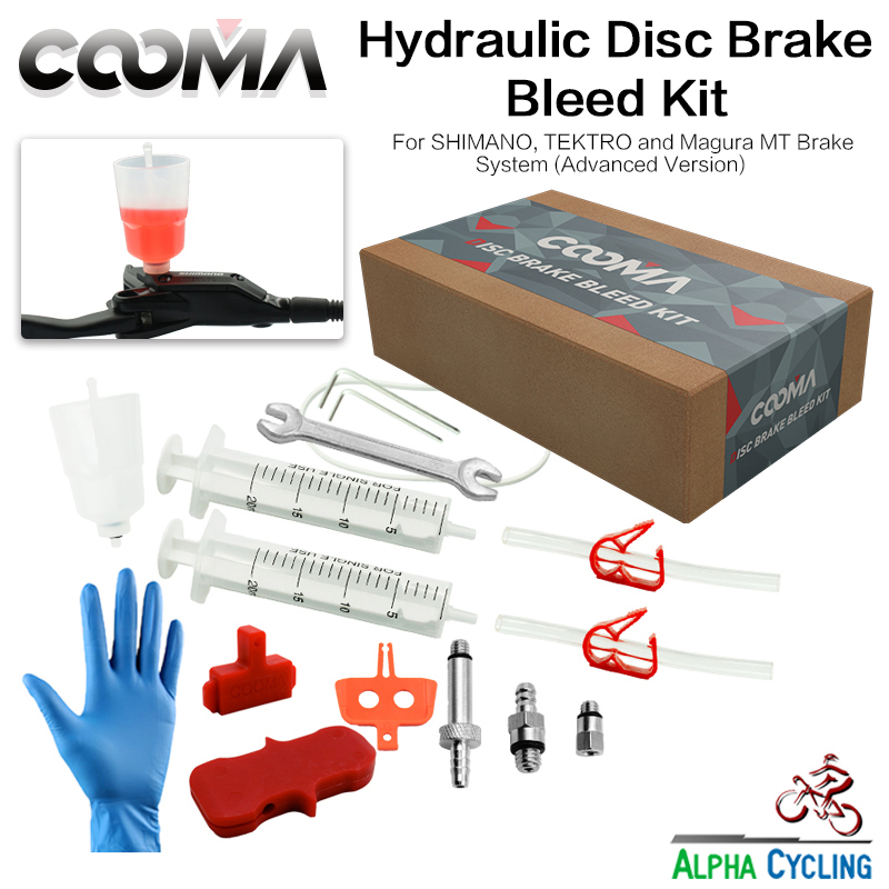 COOMA's Hydraulic Brake BLEED KIT For SHIMANO, Tektro And Magura Brake System, Mineral Oil Brake System, Bleed Kit V2.5
