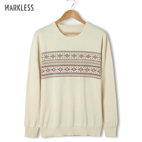 Markless Thin Woll Autumn Men S Pullovers Sweaters Discount Low Price Sale Long Sleeve Fashion O