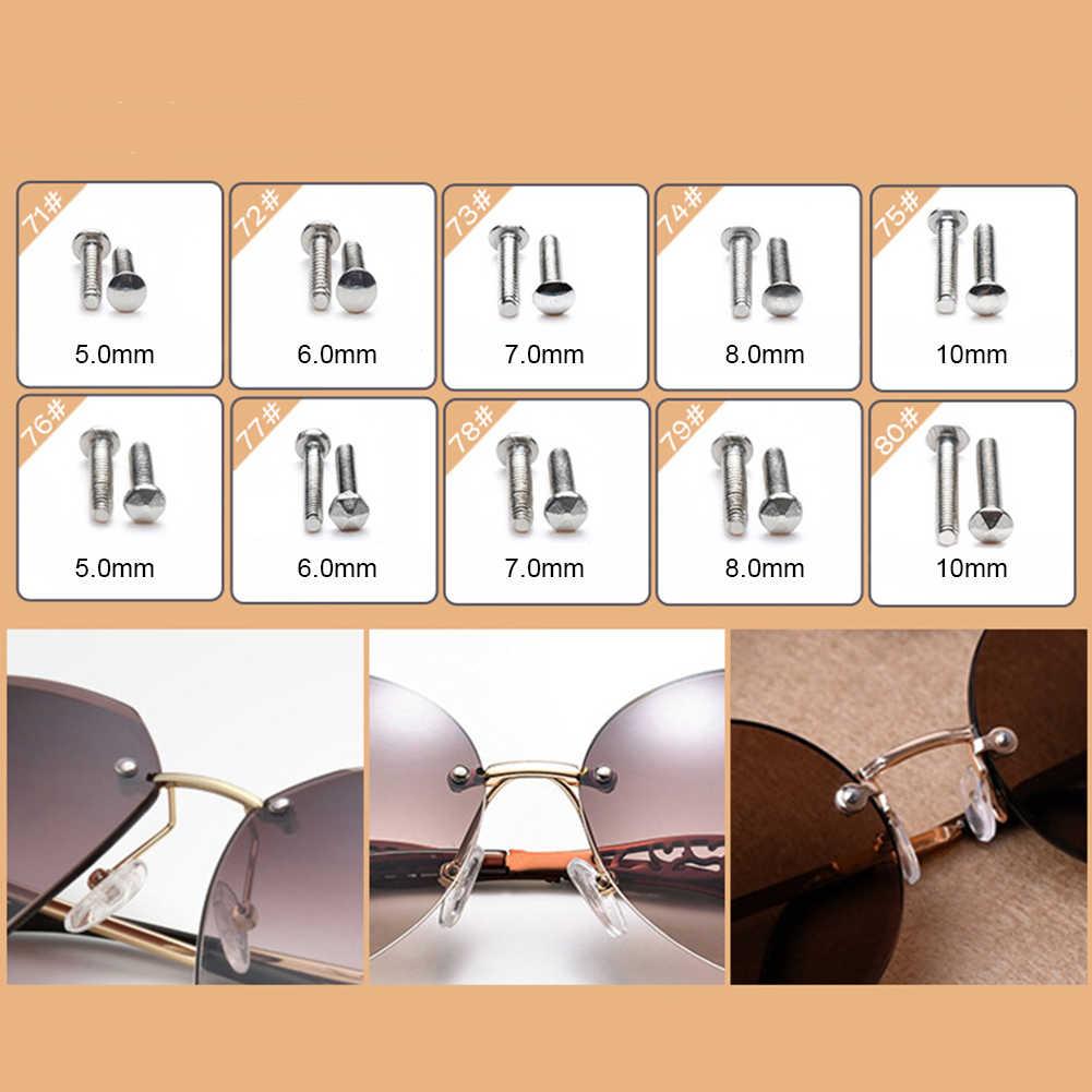 100 шт ассортимент с пинцет крошечные инструмент для ремонта силиконовая носовая фиксирующая накладка микро-отвертка очки набор гаек солнцезащитных очков очки комплект