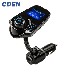 Car FM Transmitter MP3 Bluetooth Player Hands-free Call Kit LCD Display USB Charger support TF Card iPhone Samsung Android phone