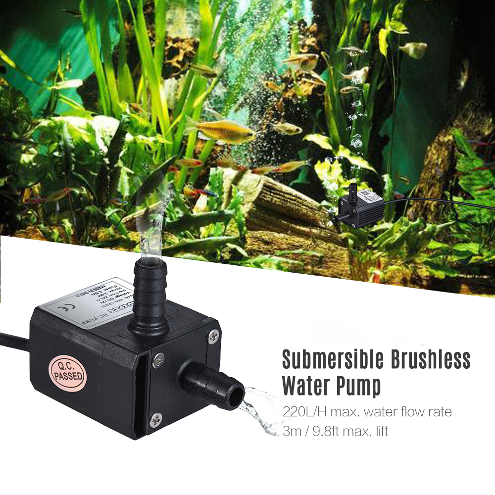 Dadypet 220L H DC 12V 4 8W Mini Brushless Submersible Water Pump Fountain Flowerpot Fish Tank Aquarium Pumps Low Consumption in Water Pumps from Home Garden