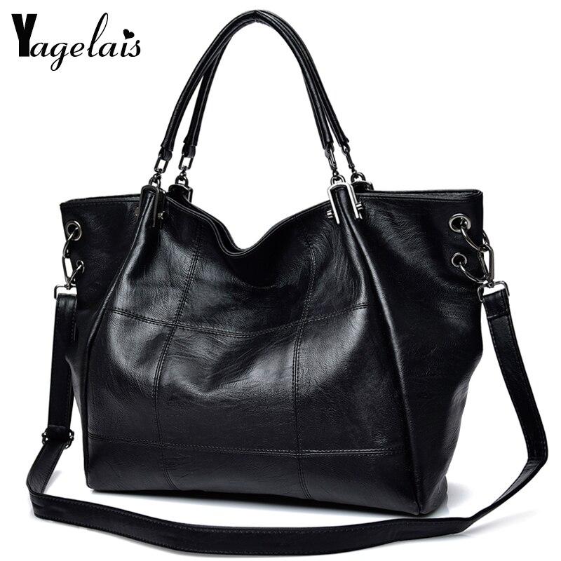 Large Capacity Women Clutch Leather Top-Handle Bag Ladies Single Shoulder Bags Crossbody Bags Soft Fashion Womens Handbags