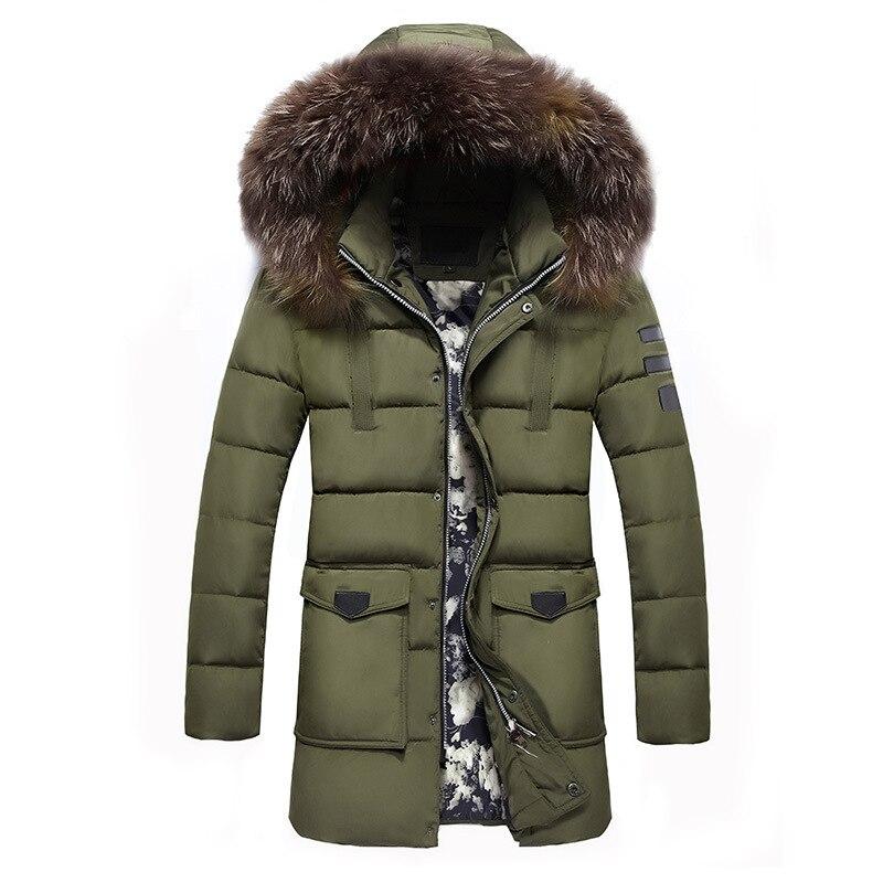 Winter Jackets Men 2017 Fur Collar Oversized Long Parkas Men's ...