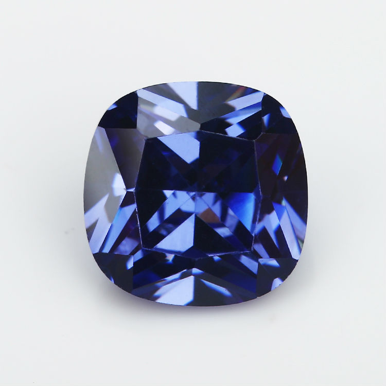 50pcs 2x2~10x10mm Cushion Shape Dark Blue Color Aaaaa Loose Cubic Zirconia Stone Brilliant Cut Cz Stone For Jewelry Diy Diversified In Packaging Beads