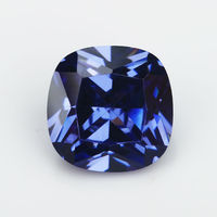 50PCS 2x2~10x10mm Cushion Shape Dark Blue color AAAAA Loose Cubic Zirconia stone Brilliant Cut CZ Stone For Jewelry DIY