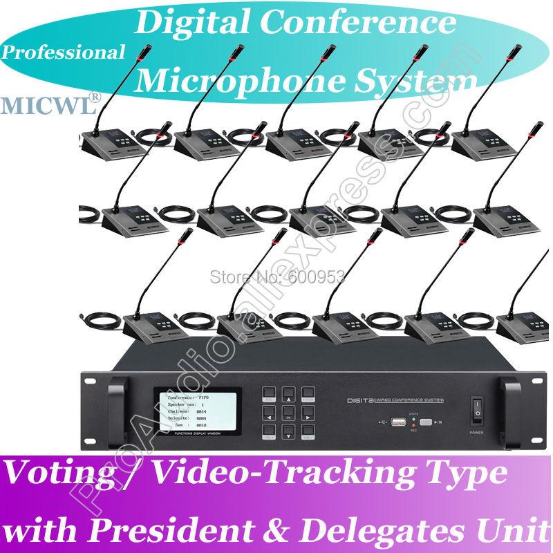 Top-Ranking Pro Vídeo Votação-tracking Sistema de Teleconferência Digital Microfone Reunião Presidente e Delegado