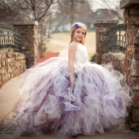 2019 New Tutu Black Baby Bridesmaid Flower Girl Wedding Dress Tulle Fluffy Ball Gown USA Birthday Evening Prom Cloth Party Dress