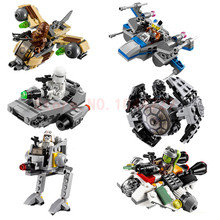 1pcs LEPIN Star Wars Microfighters Building Blocks Clone Wars Spaceship Classic Figures Compatible lepin Starwars Fighter fw130