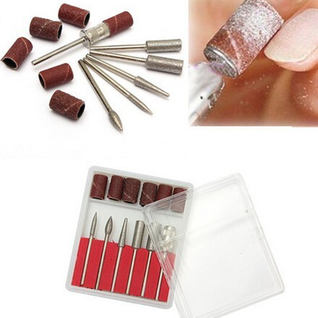 Nail Art Tip Electric Manicure Toenail Drill File Tool Nail Grinder ...