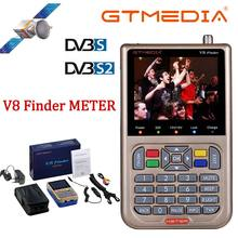 V8 Finder Meter SatFinder cyfrowa wizjer satelity DVB S/S2/S2X HD 1080P Receptor TV odbiornik sygnału Sat dekoder wyszukiwarka lokalizacji