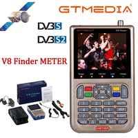 V8 buscador medidor de SatFinder Digital buscador de Satélite DVB S/S2/S2X HD 1080 P HD Receptor de señal de TV Receptor buscador de ubicación de decodificador satelital