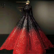 Lisong Gorgeous Ball Gowns Full Sleeves Prom Dresses