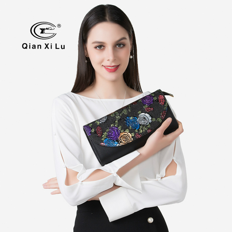 2018 Luxury Design Women Leather Handbags Fashion Butterfly Embroidery Mini Shoulder Bags Small Crossobdy Bags Ladies Clutch Bag