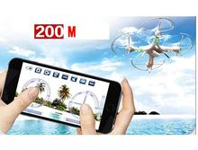 HuanQi 898B RC drone with HD WIFI camera 2.4G 4CH FPV 6-axis Gyro Headless Mode smartphone gravity induction control