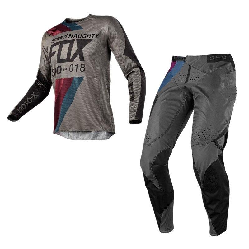 Draftr 360/180 Combos Motocross Off-Road ATV AM DH Jerseys MTB MX Motocross Calças De Corrida Dirt Bike Ciclismo Engrenagem conjuntos