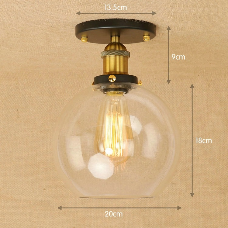 IWHD Kitchen Lampara de techo Led Ceiling Light Fixtures Glass Ball LED Ceiling Lights For Living Room Plafon Home Lighting nordic modern wood led ceiling light for home lighting living room lights plafon led ceiling lamp luminaire lampara techo