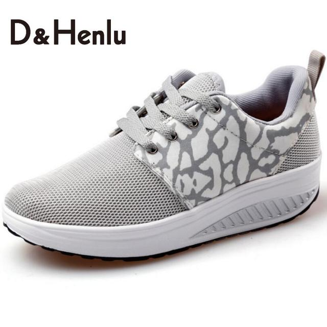 {D&H}Fashion Outdoor Patchwork Casual Shoes Women Swing Platform Female Trainers Fitness Women's Vulcanize Shoes Woman