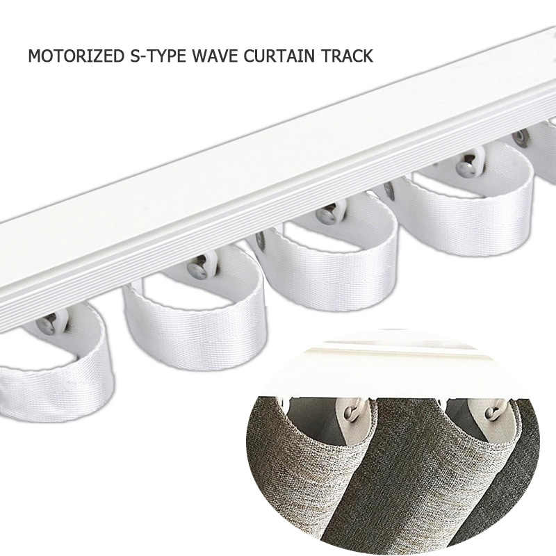 S-type wave curtain motorized electric curtain rail Dooya xiaomi aqara curtain track DT82/KT82 KT52 DT360 smart home wifi motor