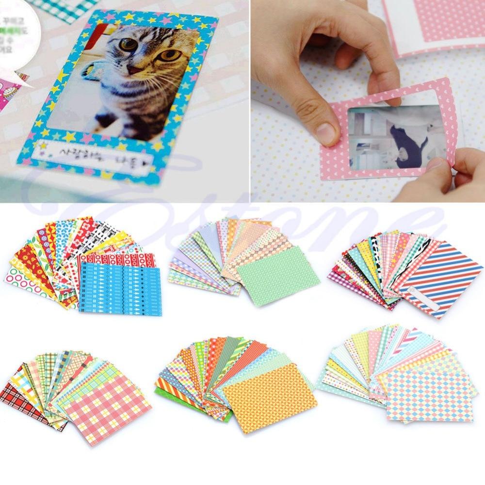 20Pcs Polaroid Camera Film Skin Masking Photo Sticker FujiFilm Instax Mini Decor