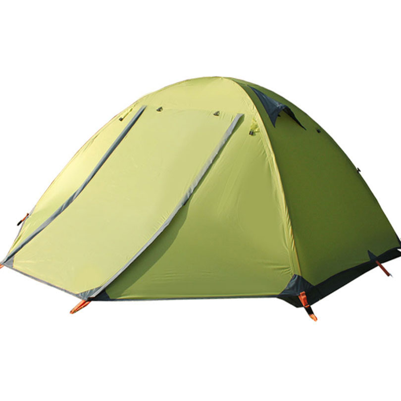 3-4 Person Outdoor Tent 210T Polyester Fabric Double Layers Aluminum Rod 4 Season Camping Tents good quality flytop double layer 2 person 4 season aluminum rod outdoor camping tent topwind 2 plus with snow skirt